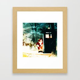 Keep Watching The Tardis Light Framed Art Print