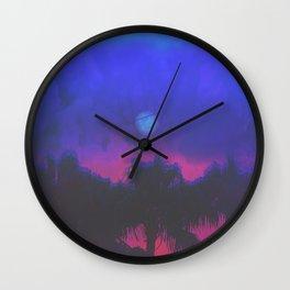 MIDNIGHT RAGE Wall Clock