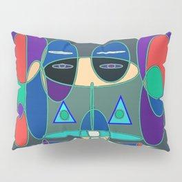 GeoFace Pillow Sham