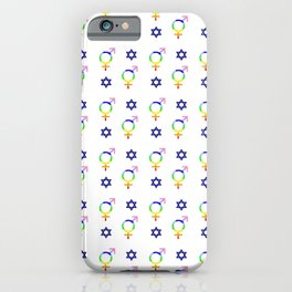 transgender and star of david iPhone Case