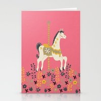 carousel Stationery Cards featuring Carousel by Prelude Posters