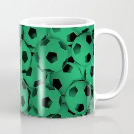 Green Soccer Balls Everywhere Coffee Mug