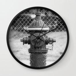 Eddy Valve Company Two Piece Barrel Fire Hydrant Waterford NY Fire Plug Wall Clock