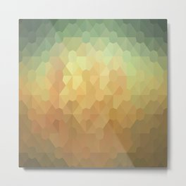 Nature's Glowing Geometric Abstract Metal Print