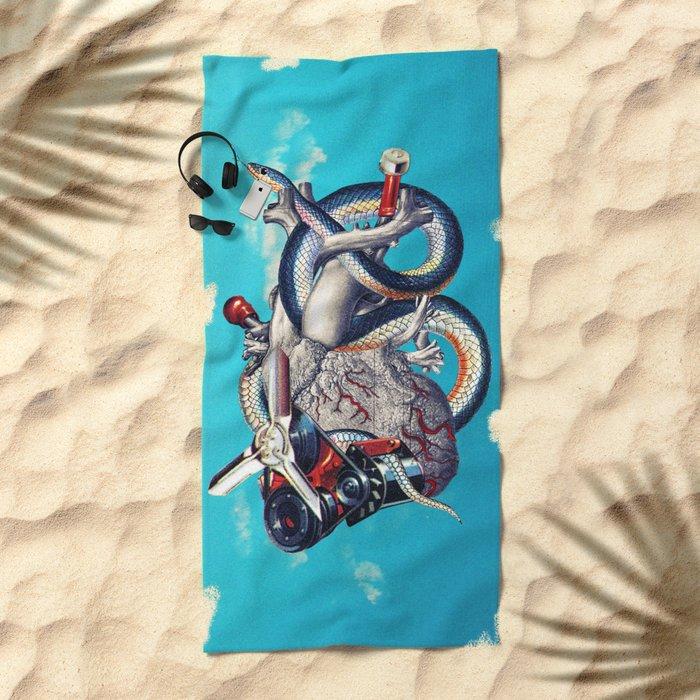 Heart of Illuminati Beach Towel