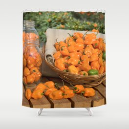Habanero Garden  Shower Curtain