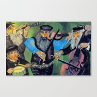 jewish Canvas Prints featuring Jewish klezmer by Mimi Eskenazi