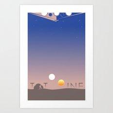 TATOOINE Art Print