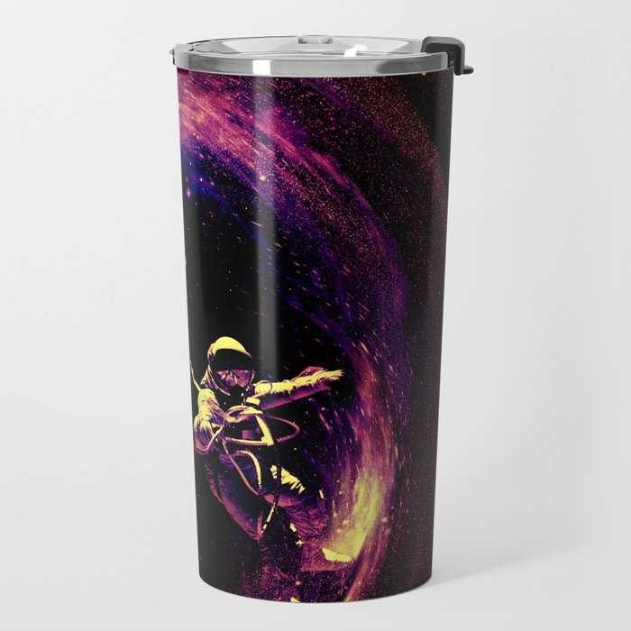 Space Surfing Travel Mug