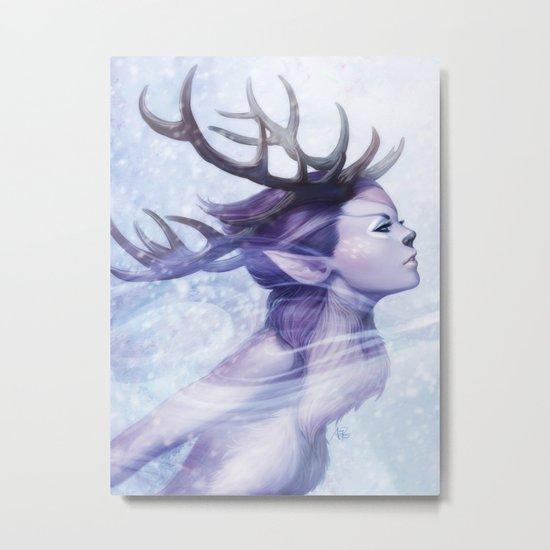Deer Princess Metal Print