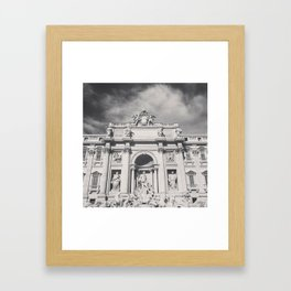 Trevi Fountain, black & white photography of Rome, fine art architecture, italian architectural love Framed Art Print