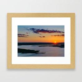 Light is flowing Framed Art Print