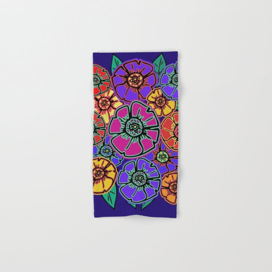 Abstract #462 - Flower Power #13 Hand & Bath Towel