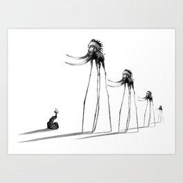 Rise of The Mammoths Art Print