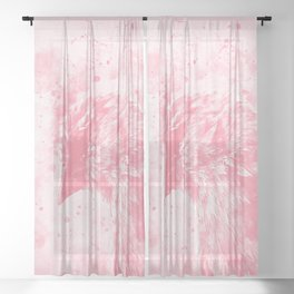 spotted madagascar fody wspw Sheer Curtain