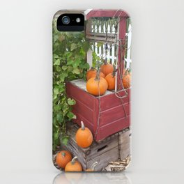 Pumpkins by the Well iPhone Case
