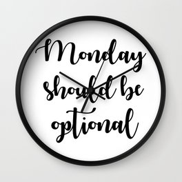 Monday Wall Clock