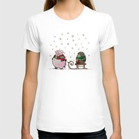 piglet T-shirts featuring Winter fun by mangulica