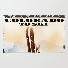 Clear Creek Colorado Ski Rug