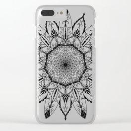 Mandala Lotus Tattoo nr. 48 Clear iPhone Case