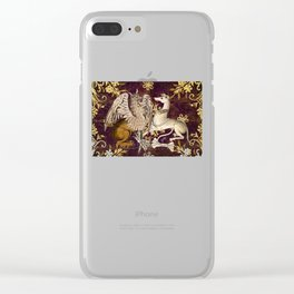 Gryphon and Greyhound - Garden of Beasts Collection Clear iPhone Case