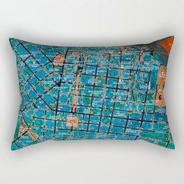 Odessa antique map, colorful mas, classic artwork Rectangular Pillow