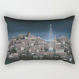 Bethlehem Night Nativity Scene Rectangular Pillow