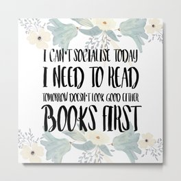 Books First Metal Print