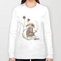 hare Long Sleeve T-shirts featuring Gentleman Hare by Nicola Wallace