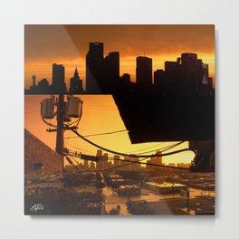 Deep Ellum Sunset Metal Print
