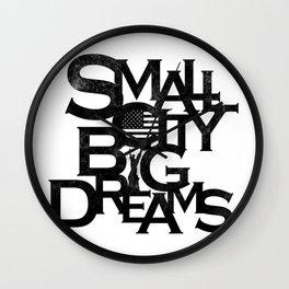 """""""Small City Big Dreams"""" Wall Clock"""