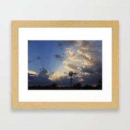 God's Ray's shining through Framed Art Print