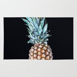 Pineapple On A Black Background #decor #society6 Rug