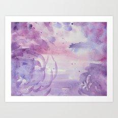 Plums and Pinks Art Print