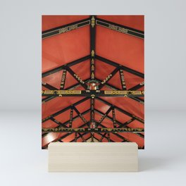Orange Church Ceiling Mini Art Print