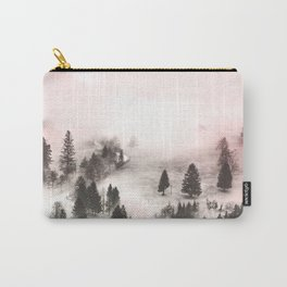 Black and white forest Carry-All Pouch