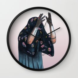 Floral Ghost Wall Clock