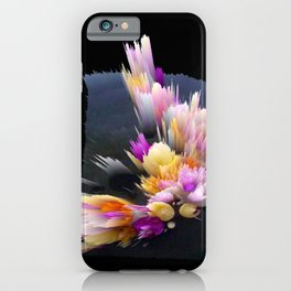 flowers 3d abstract digital painting iPhone Case