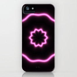 soft rings of neon pink light iPhone Case