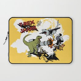 T-Rex VS Shark  Laptop Sleeve