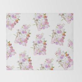 Parfum Blooming Bouquet Throw Blanket