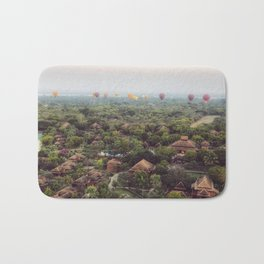 Hot Air Balloons in Bagan Bath Mat