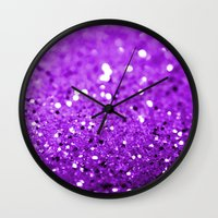 glitter Wall Clocks featuring Glitter by Brian Raggatt