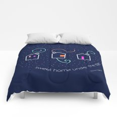 Sweet home under the stars Comforters