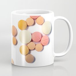Drugs in the form of drugs on white background Coffee Mug
