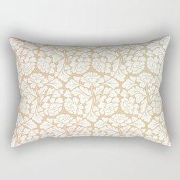 William morris pattern in gold Rectangular Pillow