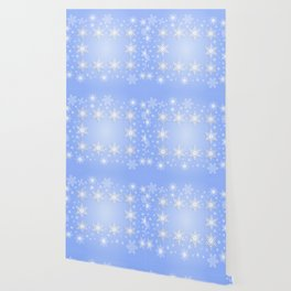 Snowflake frame with background Wallpaper