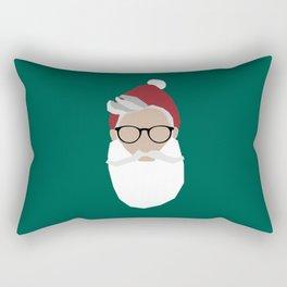 Hipster Santa Rectangular Pillow