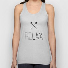 Relax Lacrosse LAX Unisex Tank Top