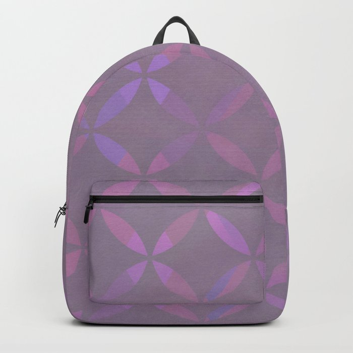 Round Pink Grey Pattern Backpack